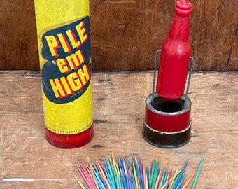 Vintage Pile Em High Game I Shabby Chic Decor I Game Room