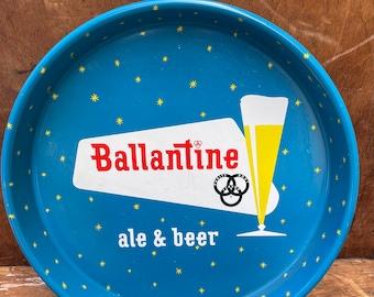 1961 Ballantine Ale Beer Tray | Man Cave | Bar Decor