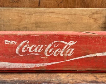 Red Coca Cola Crate | Vintage Crate | Shabby Chic | Antique | Rustic Decor