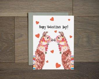 Llama Valentine Card Etsy