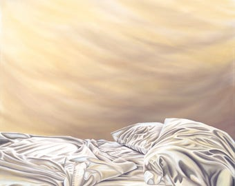 Waking Dream...Morning Sky Painting by Kimberly Fox...Fine Art...Canvas or Paper Print...Surreal Art...great for bedroom