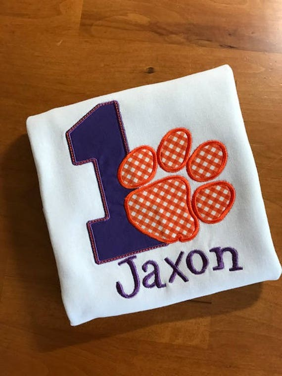 Clemson Tiger Inspired Birthday Shirt, More numbers available, Long or Short Sleeve
