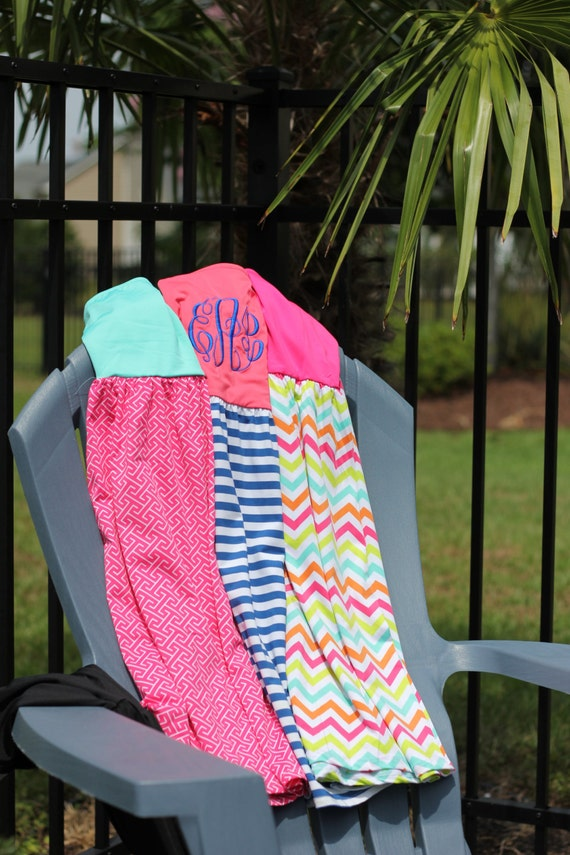 SALE Personalized Swimsuit Cover Up - Monogram Included.
