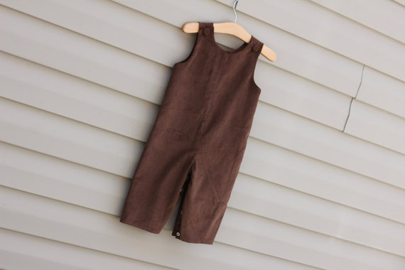 Boys Chocolate Brown Corduroy Longall, Monogram it with purchase of Monogram Upgrade