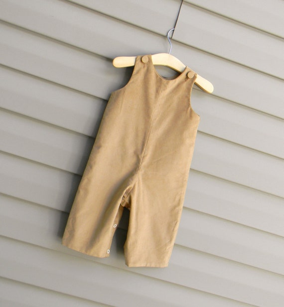 Boys Khaki / Tan Corduroy Longall, Add Monogram or Applique with purchase of Monogram Upgrade