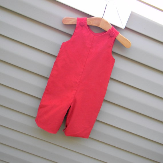 Boys Red Corduroy Longall, Monogram it with purchase of Monogram Upgrade