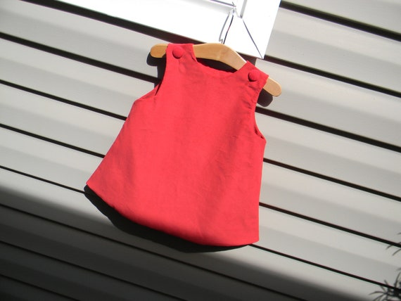 Girls Red Corduroy Jumper Dress, Monogram it with purchase of Monogram Upgrade