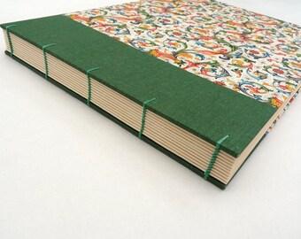 Photo album, wedding guest book, watercolour sketchbook, Florentine, Rossi, floral, book, Coptic, watercolour paper, book cloth