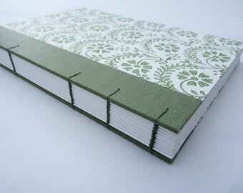 Journal, notebook, florentine, rossi, coptic, cloth, floral, A5