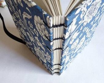 A6 weekly planner 2021, 2022, 2023, 2024, custom date, florentine paper, Coptic binding, journal, notebook