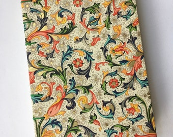 A6 Florentine notebook, journal, coptic notebook, Classic Florentine journal, Rossi, floral, recycled paper