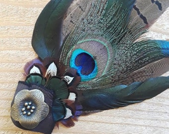 Feather Hair/Hat Clips