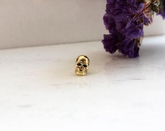 Gold Skull Stud | Skull Earrings | Handmade stud earrings | Gold Stud Earrings | Delicate Earrings | 18ct Skull Earrings