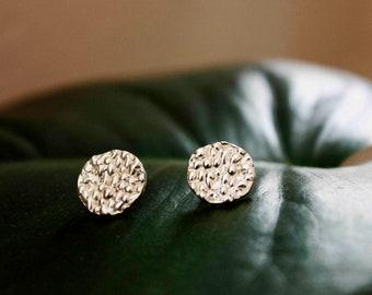 Flakes Earrings | Circle Earrings | Stud Earrings | Silver Earrings
