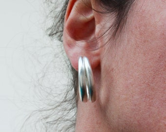Chunky Hoop Earrings | Silver Hoop Earrings | Silver Hoops | Bold Hoop Earrings | Gift For Her