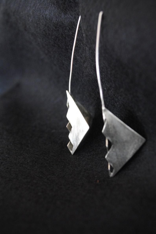 Silver Earrings Razor Earrings