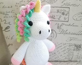 Rainbow Unicorn Plushie  stuffed animal colorful