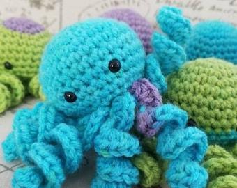 Little octopus babies. Stuffed animal plushie crochet