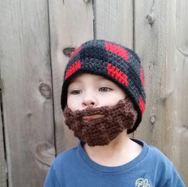 c81ff57eefe Lumberjack Beard Beaniebaby flannel hat gingham custom