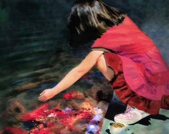 Custom, Portrait, Children, Child, Painting from Photograph, Digital Painting, Photo Enhancement, Photo editing, manipulation, girl, gift