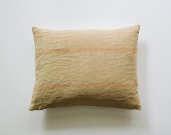 QUINN || Beige + Blush Woven Striped Lumbar Pillow Cover | Modern Farmhouse Decor | Fall Throw Pillows