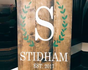 Last Name Wood Sign, Wedding Decor Wood Sign, Name Sign, Farmhouse Wood Sign, Farmhouse Decor, Rustic Wedding, Rustic Wood Sign, Gallery