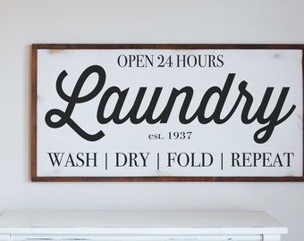 "Laundry Room Wood Sign ""Laundry"""