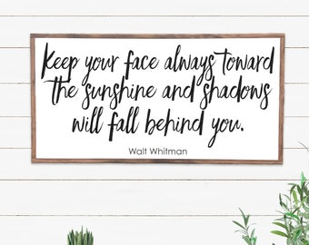 Walt Whitman Quote Wood Sign, Wood Signs Sayings, Farmhouse Style Sign, Mantle Wood Sign, Inspirational Womens Gift