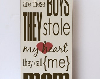 Boys Stole Heart Wood Sign, Nursery Art, Gift for Her, Modern Farmhouse Style, Boy Room Wood Sign, Bedroom Wall Art, Mom Gift Wood Sign