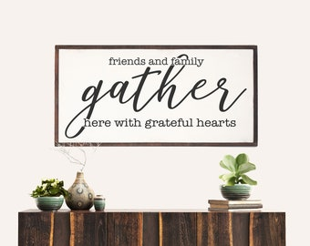 Gather Here Large Farmhouse Sign