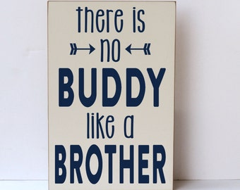 Kids Room Decor, Buddy Brother, Nursery Art, Baby Shower Gift, Wall Decor, Wood Sign, Nursery Decor, Wooden Signs, Farmhouse Sign, Handmade