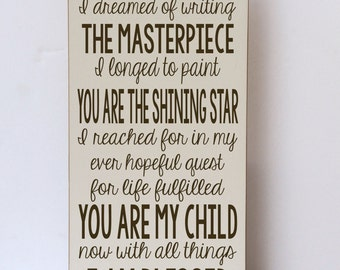 Wood Sign, You Are The Poem, Nursery Decor, Child Room, Gallery Wall, Art for Nursery, Art for Child Room, Nursery Art, Inspirational Sign