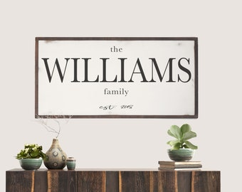 Family Name Wood SIgn, Last Name Sign, Farmhouse Name Sign, Last Name Wood Sign, Wedding Gift, Anniversary, Home, Christmas Gift
