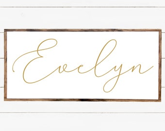 Personalized Wood Sign With Name