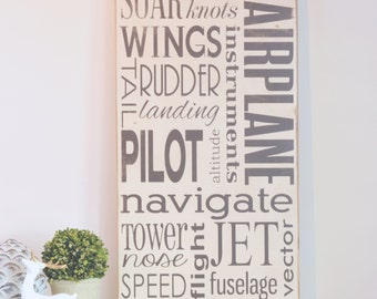 Airplane Wood Sign