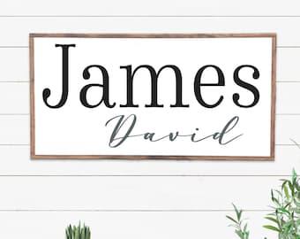 Name Sign for Nursery, Baby Boy Wall Art, Baby Girl Sign, Baby Shower Gift, New Baby Room Decor, Custom Nursery Art