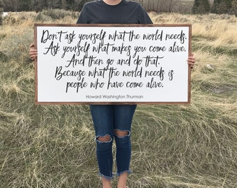 What the World Needs Wood Signs Sayings, Farmhouse Style Sign, Mantle Wood Sign, Wooden Signs with Quotes, Farmhouse Decor