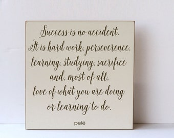 Inspirational Wood Sign, Wood Signs for Office, Quote on Success, Wall Art Sayings, Wooden Wall Plaques, Wood Artwork