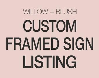 Custom Wood Framed Wood Sign