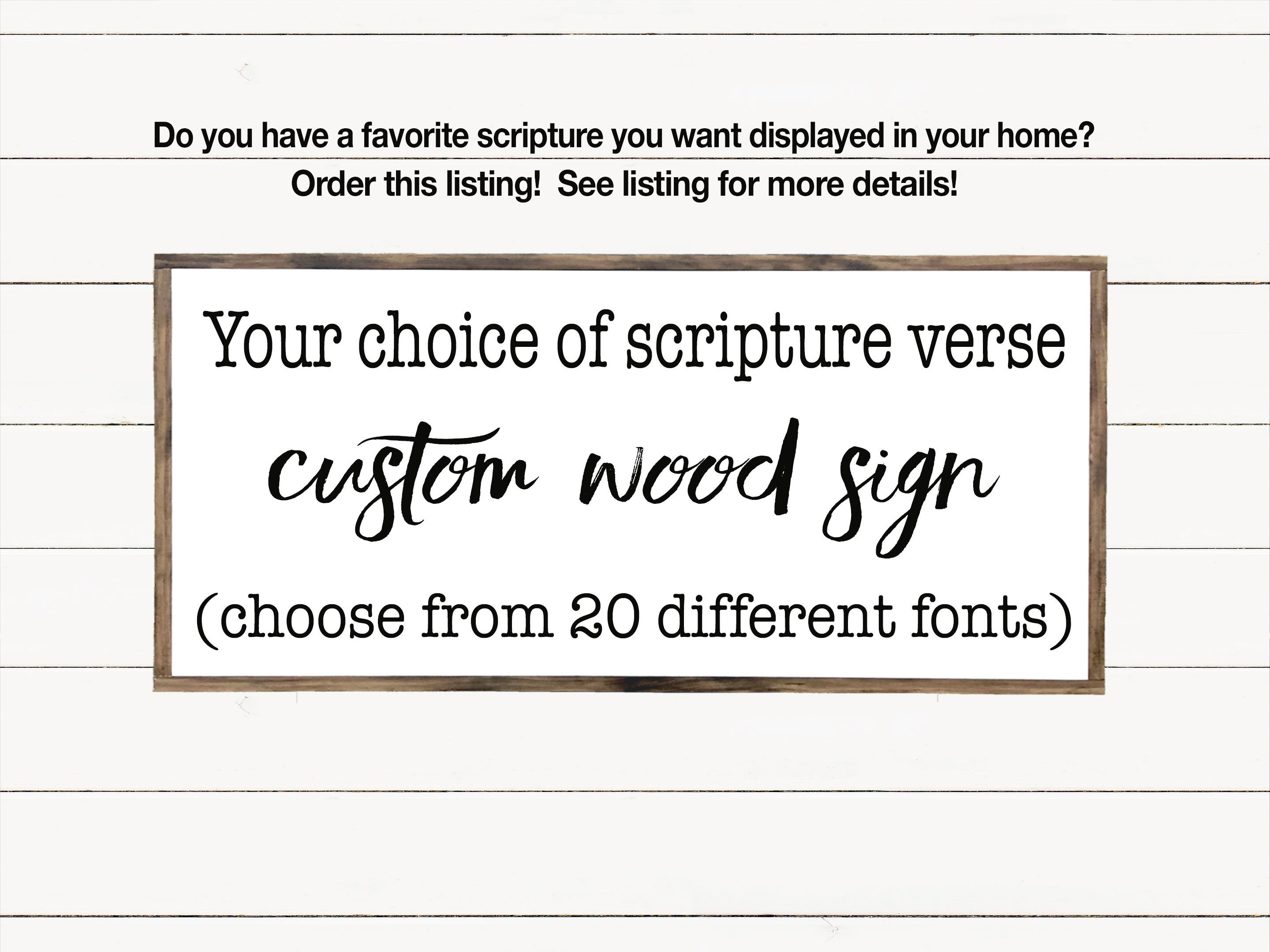 Custom Scripture Or Quote Wood Sign Custom Bible Verse Scripture Wall Art Wooden Signs With Quotes Farmhouse Sign
