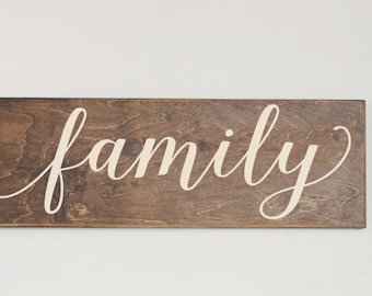 Wood Wall Art, Rustic Wood Sign, Family Wood Sign, Farmhouse Decor, Modern Farmhouse, Gallery Wall, Wooden Sign, Family Room Wall Art