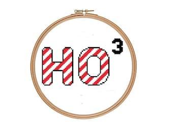 Ho Ho Ho Funny Geek Cross Stitch Pattern PDF Instant Download