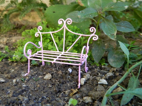 Remarkable Fairy Garden Bench Miniature Furniture Fairy Accessories Miniature Pink Bench Miniature Garden Accessoriesdollhouse Miniature Ibusinesslaw Wood Chair Design Ideas Ibusinesslaworg
