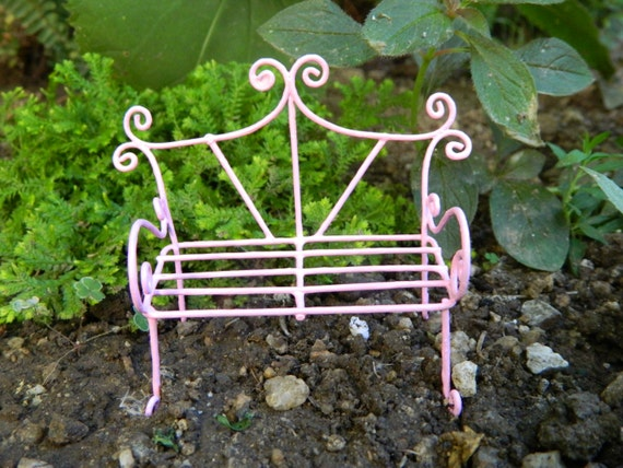Brilliant Fairy Garden Bench Miniature Furniture Fairy Accessories Miniature Pink Bench Miniature Garden Accessoriesdollhouse Miniature Ibusinesslaw Wood Chair Design Ideas Ibusinesslaworg