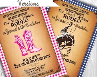 Western Invitations | Rodeo Invitation | Cowboy Invitation | Cowgirl Invitation | Rodeo Invite | Western Invite | Western Party Invite