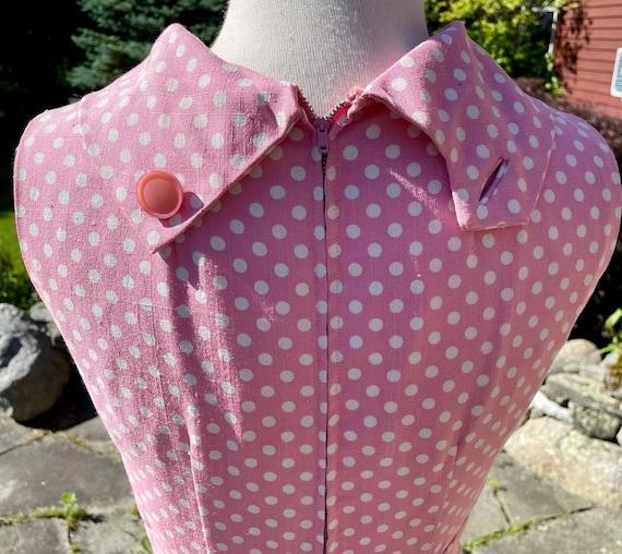 Vintage Suzy Perette Pink & White Polka Dot Sweet… - image 6