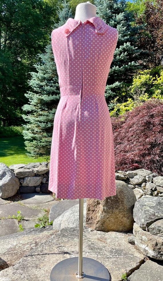 Vintage Suzy Perette Pink & White Polka Dot Sweet… - image 4