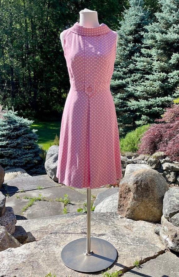 Vintage Suzy Perette Pink & White Polka Dot Sweet… - image 1