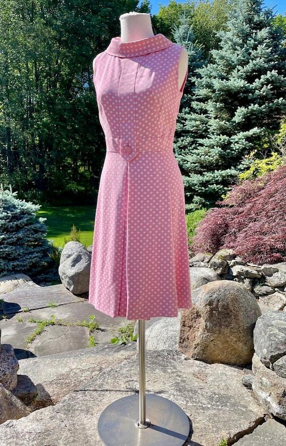 Vintage Suzy Perette Pink & White Polka Dot Sweet… - image 2