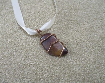 mookaite wrapped with copper wire
